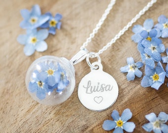 Chain 925 silver forget-me-not