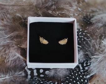Earrings 925 Silver Feather