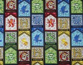 Harry Potter Stained Glass Houses Character Gryffindor Slytherin Hufflepuff Ravenclaw
