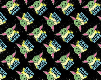 Star Wars Grogu Baby Yoda Mandalorian Movie Cotton Fabric *Choose size from drop down menu* READY TO SHIP