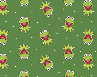 Cotton Fabric Muppets Kermit Miss Piggy Cartoon Nostalgia Colorful Sewing Fabric Material