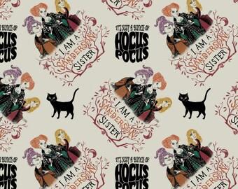 Hocus Pocus Cotton Fabric Potions Spells Sanderson Sisters