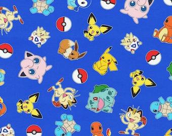 Pokemon Fabric Blue Character Packed Pokemon