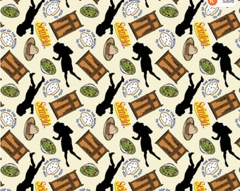 Seinfeld ELAINE Character 100% COTTON Fabric Tv Show Novelty Fabric