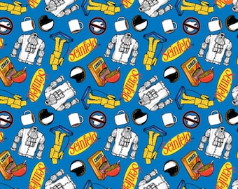 Seinfeld Character 100% COTTON Fabric Tv Show Novelty Fabric