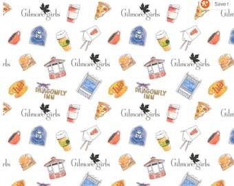 Gilmore Girls Character 100% COTTON Fabric Tv Show Novelty Fabric