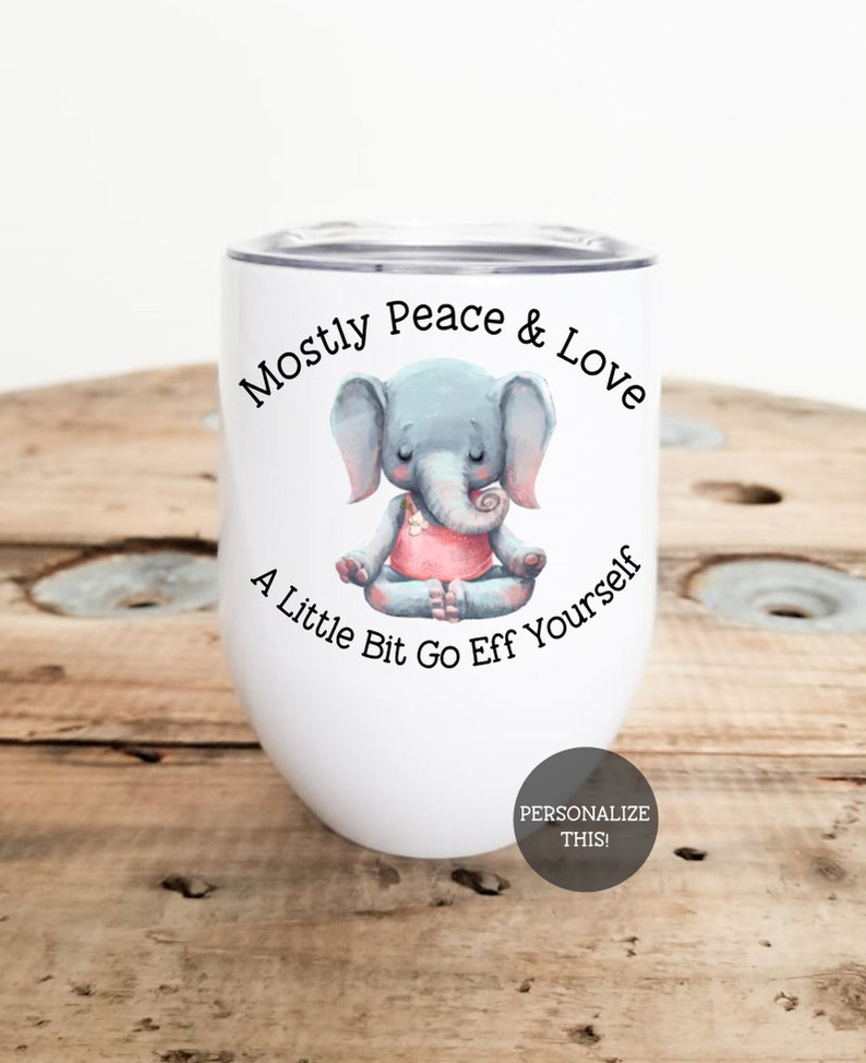 Funny Tumblers Gag Gifts For Christmas Sarcastic Gifts White Elephant Gifts Funny Funny Wine Glasses Cute Wine Glass Go Eff Yourself