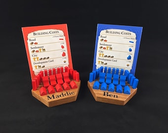 Personalized Catan Piece Holders