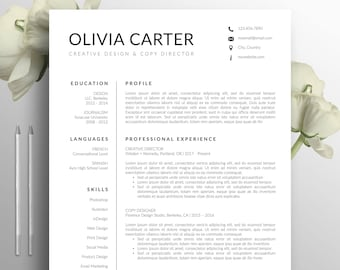 Resume Template Download | Resume Template Etsy
