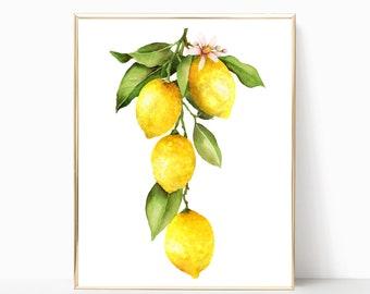 fea9fe60750b Lemon wall art | Etsy
