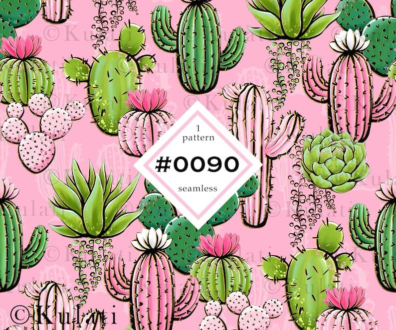 Colorful cactus pattern custom fabric design digital jpeg cute cactus Instant Download digital paper seamless pattern scrapbook