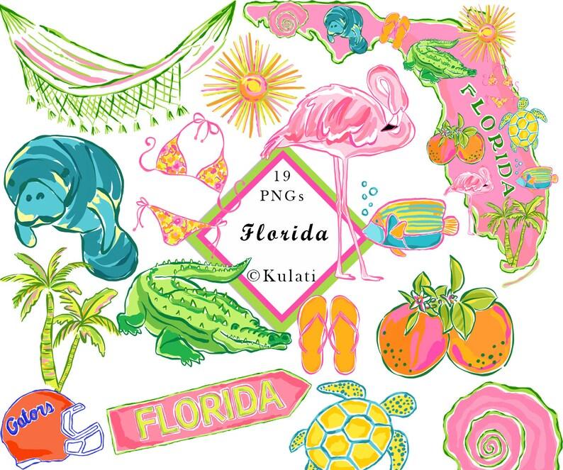 d80777bc8 INSTANT DOWNLOAD Florida Clip Art Florida clipart Florida