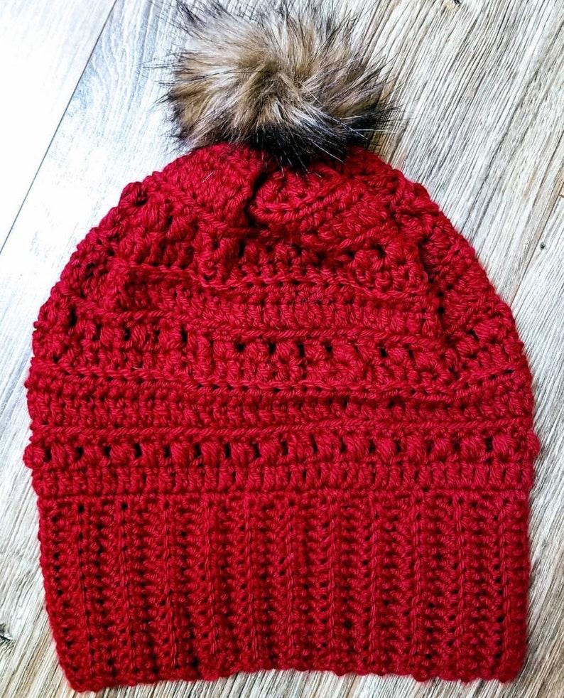Warm Wintery Textured Beanie Crochet Pattern