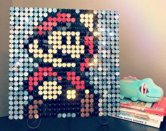 Sequin art kit etsy super mario sequin pixel art kit do it yourself wall art solutioingenieria Gallery
