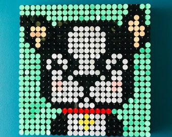 Sequin art kit etsy dog sequin pixel art kit do it yourself wall art solutioingenieria Gallery