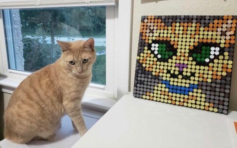 442f93e6d0 Custom Cat Sequin Pixel Art Kit Do-It-Yourself Wall Art