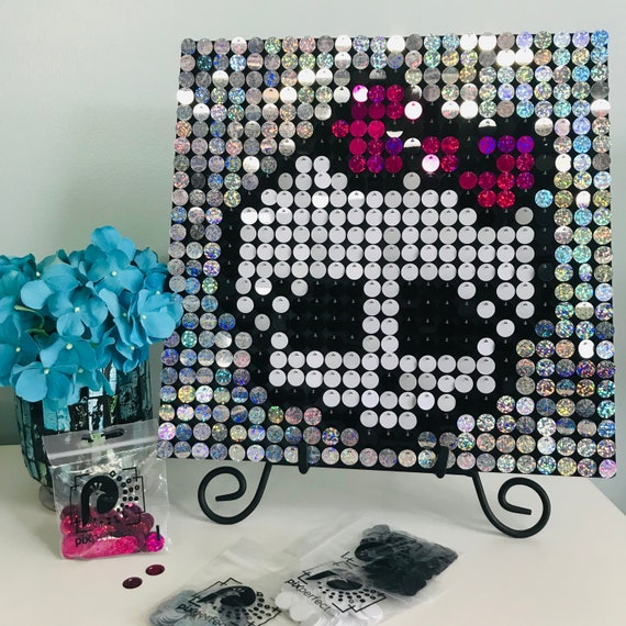 Monster High Sequin Pixel Art Kit Do It Yourself Wall Art