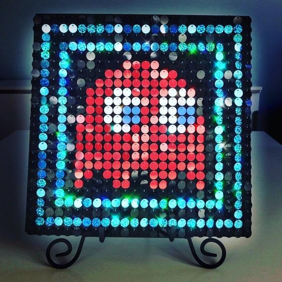 Blinky pac man sequin pixel art kit do it yourself wall art etsy image 0 solutioingenieria Gallery