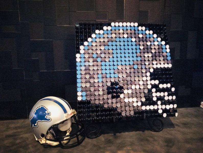 meet acb75 5a189 Detroit Lions Sequin Pixel Art Kit - Do-It-Yourself Wall Art