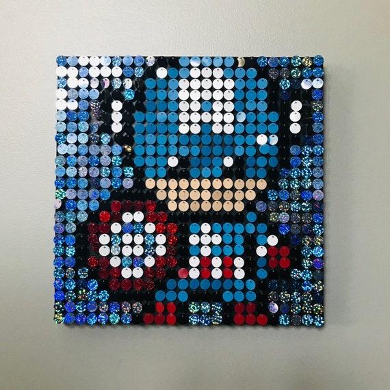 Do-It-Yourself Wall Art Yellow Submarine Sequin Pixel Art Kit