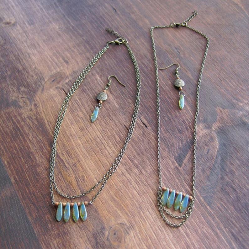 Dual Seafoam-Green Necklace Set