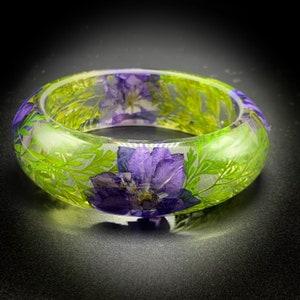 Resin Bracelet Dandelion Jewelry Bangle Bracelet Dandelion Bracelet Silver Flakes Bracelet Fairy Jewelry Gift For Her