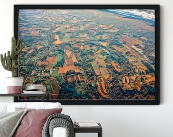 Aerial photo, Countryside view, Frome plane, Aerial photography, Landscape Photography, Nature Photography, Landscape Wall Art