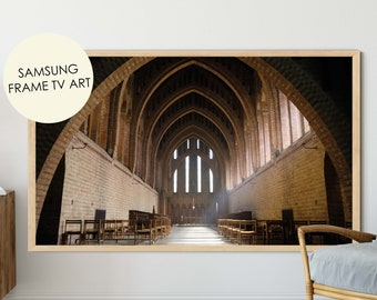 Church Photography, Samsung Frame TV Art, Quarr Abbey, Church Wall Art, Monastery Photo, Isle of Wight poster, IOW Photography