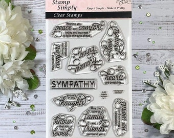 Extending Sympathy Greeting Rubber Stamp