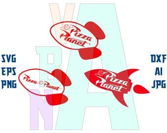 Pizza Planet Logo Etsy