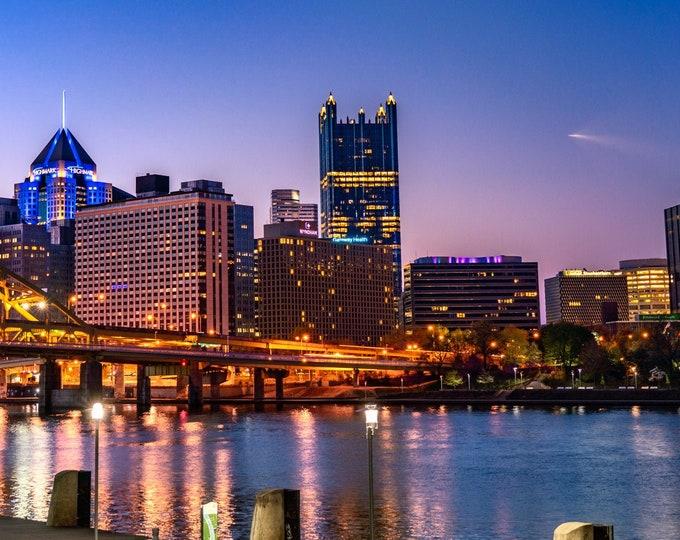 Pittsburgh Photo Print - SpaceX Falcon 9 Rocket Flies Over Pittsburgh - Pittsburgh Photo - Pittsburgh Metal Prints
