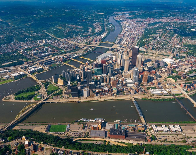 Pittsburgh Photo Print - An Aerial View of The City of Bridges  - Pittsburgh Wall Art - Pittsburgh Prints - Pittsburgh Metal Prints
