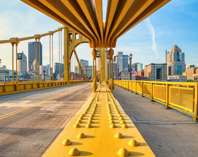 Warhol Bridge and Downtown Pittsburgh