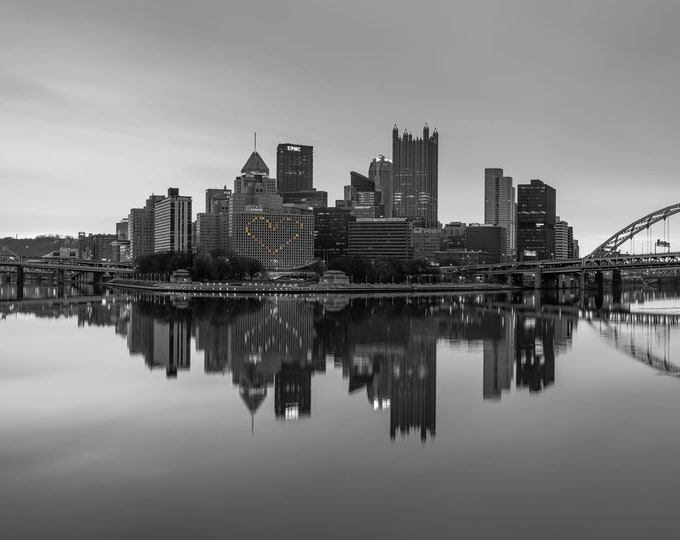 Pittsburgh Photo Print - Hearts in the Pittsburgh Skyline
