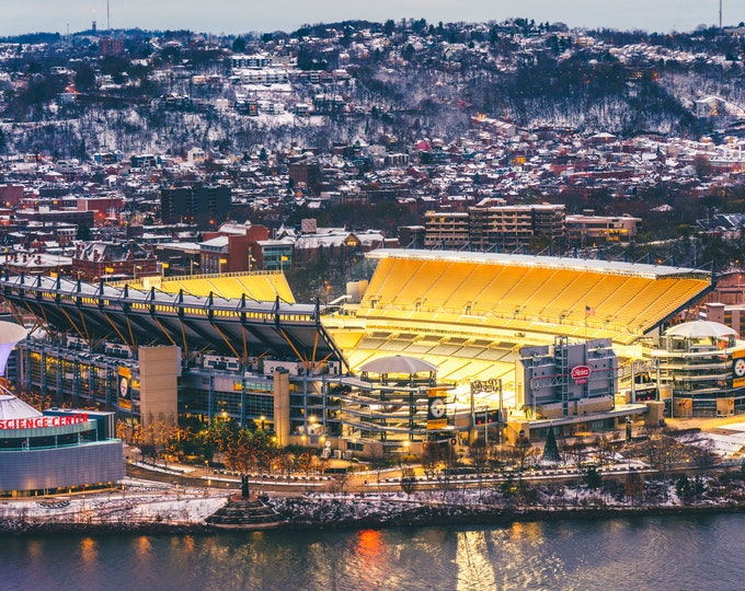 Heinz Field Photo - Heinz Field with Snow - Pittsburgh Photos - Pittsburgh Steelers