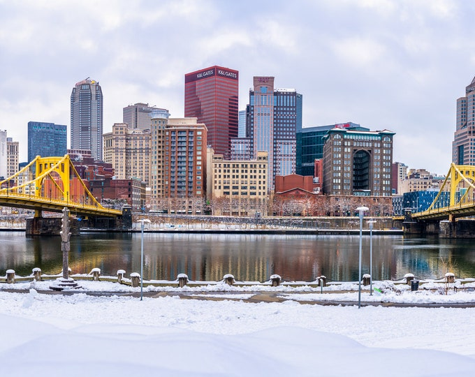 Pittsburgh Photography - A Snowy Day in Pittsburgh - Pittsburgh Panorama - Pittsburgh Art