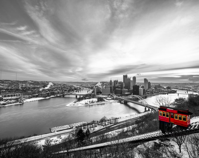 Pittsburgh Incline Photo - The Incline on a Winter Day - Pittsburgh Art - Pittsburgh Photo Prints