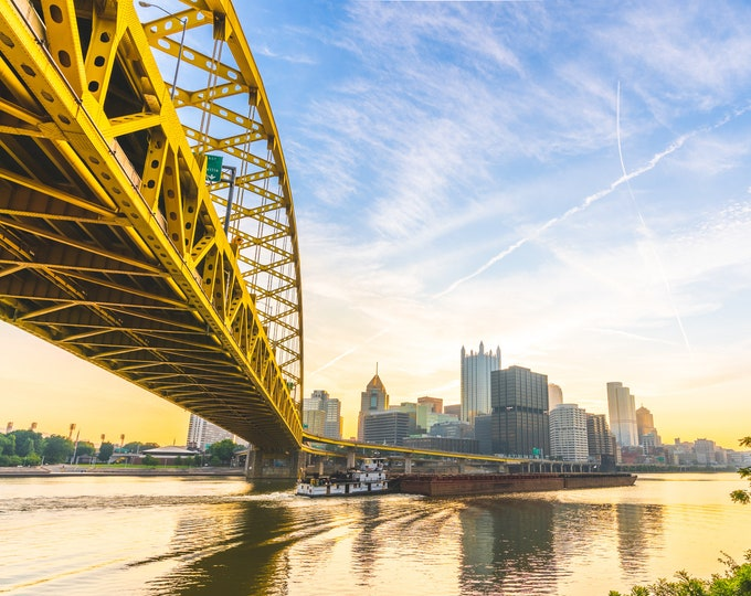 Photo of the Fort Pitt Bridge in Pittsburgh, PA | Available on metal, canvas, and Kodak lustre paper