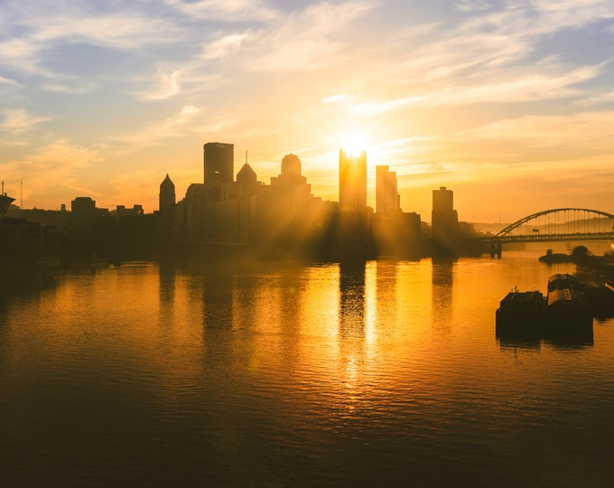 Pittsburgh Photo Print - Sunrise Over PPG Place - Wall Art - Pittsburgh Metal Print - Pittsburgh Canvas Print