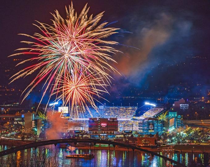 Heinz Field with Fireworks
