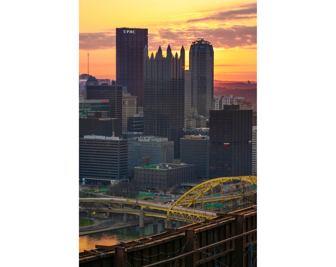 Pittsburgh Skyline Photo - Pittsburgh Sunrise from Mt. Washington - Pittsburgh Metal Prints - Pittsburgh Photography