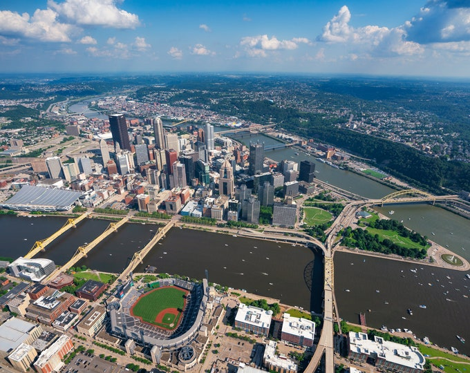 Pittsburgh Photo Print - A Beautiful Summer Day Over Pittsburgh - Pittsburgh Metal Prints - Pittsburgh Canvas Prints