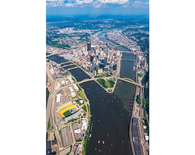 Pittsburgh Photo - The Three Rivers and Pittsburgh  - Pittsburgh Wall Art - Pittsburgh Prints - Pittsburgh Metal Prints