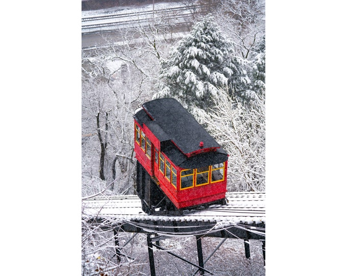 Pittsburgh Photo Print - The Incline on a Snowy Day - Pittsburgh Art - Pittsburgh Photos