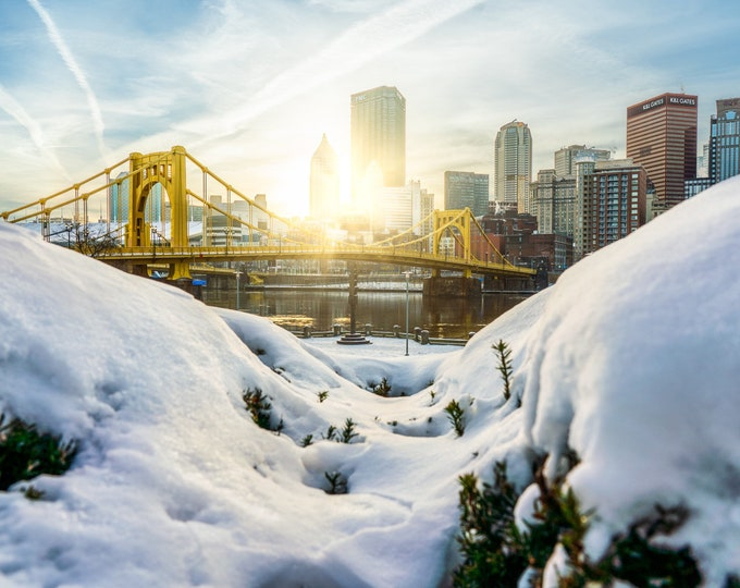 Pittsburgh Photo Print - Snowburgh - Pittsburgh Art - Pittsburgh Picture