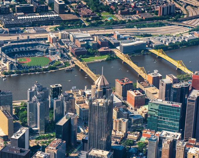 Pittsburgh Photo - An Aerial View of The City and PNC Park  - Pittsburgh Wall Art - Pittsburgh Prints - Pittsburgh Metal Prints