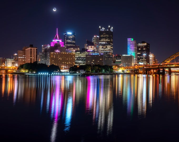 Pittsburgh Photograph - Reflections of Pittsburgh in the Ohio River - Pittsburgh Photos - Pittsburgh Wall Art