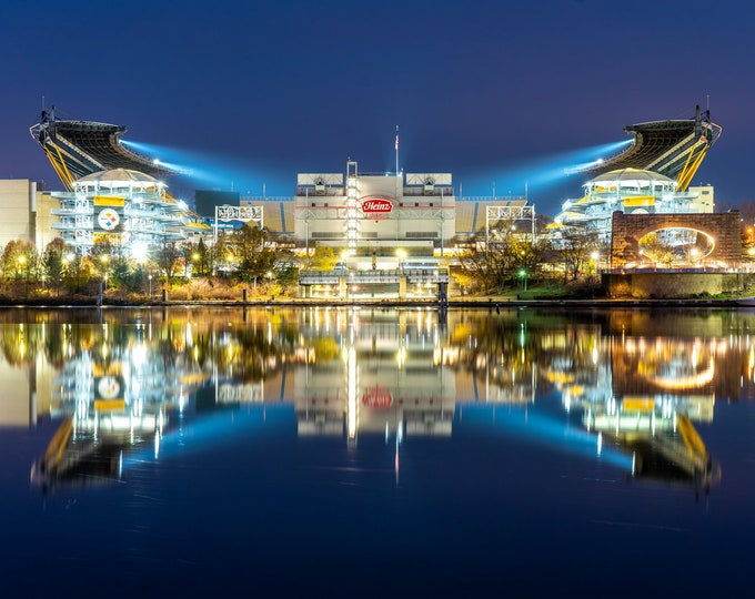 Heinz Field Photo - Heinz Fields Reflection in the Allegheny River - Pittsburgh Photo