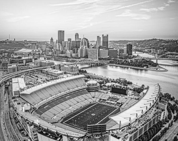 Photo of Heinz Field and Pittsburgh Skyline | Pittsburgh Steelers | Downtown Pittsburgh Photo | Available on Metal, Canvas, & Kodak Paper