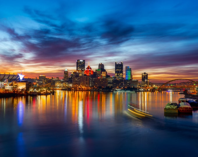 Pittsburgh Skyline Photo - Vibrant Colors of Pittsburgh - Wall Art - Pittsburgh Photography